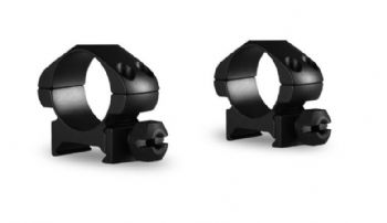 "Hawke 1"" Steel Precision Weaver/Picatinny Rifle Scope Mount Rings - LOW 23000"